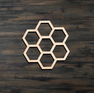 Honeycomb Wooden Cutout
