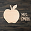Thumbnail: Teacher Apple Wooden Cutout