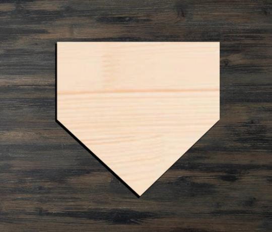 Baseball Base Wooden Cutout