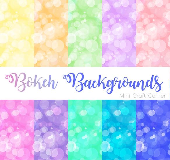 DIGITAL Pastel Bokeh Backgrounds