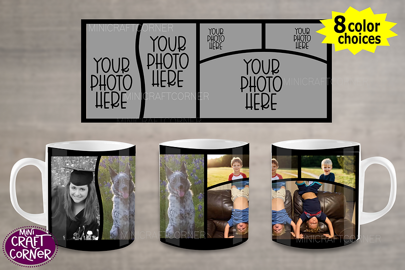 DIGITAL Photo Mug Wraps