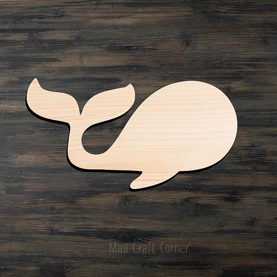 Whale Wooden Cutout