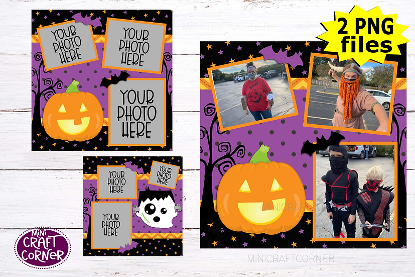 DIGITAL Halloween Scrapbook Template