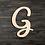 Thumbnail: Letter G Wooden Cutout