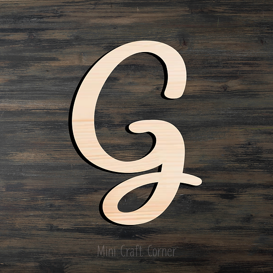 Letter G Wooden Cutout