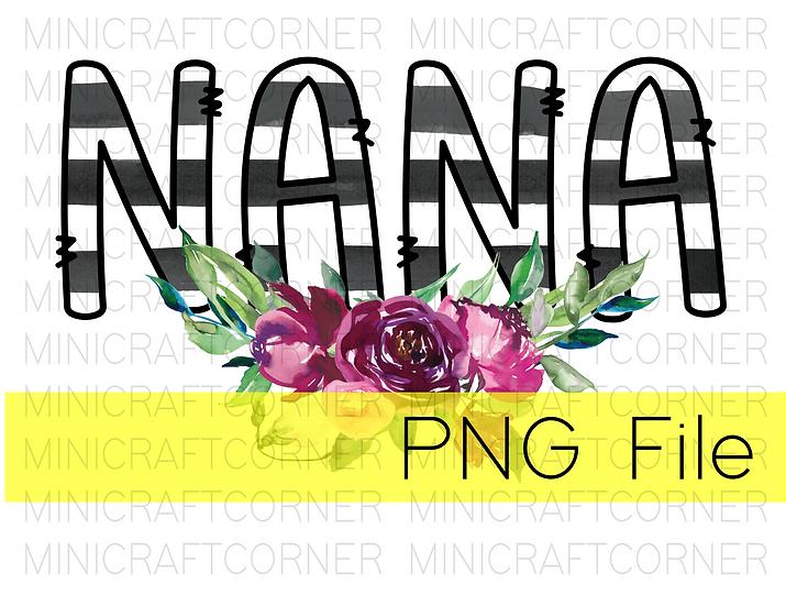 PNG -Nana Floral Design File