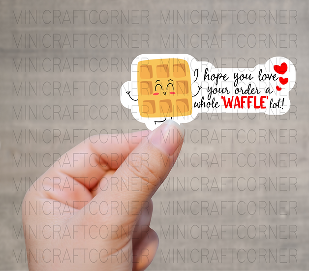 PNG - Valentines Waffle Stickers