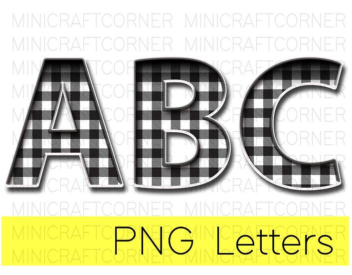DIGITAL White Buffalo Plaid Marquee Letter Files