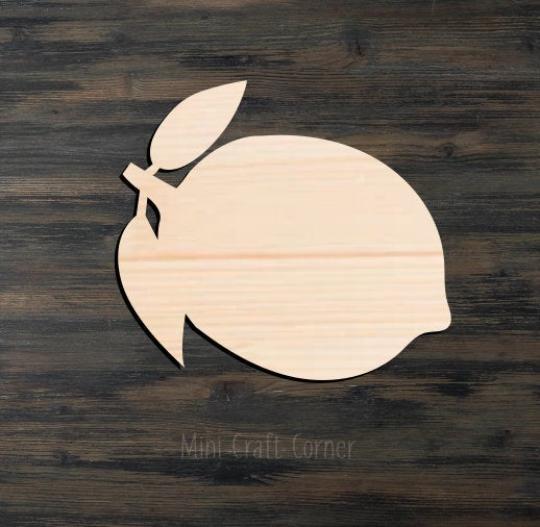 Lemon 2 Wooden Cutout
