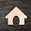 Thumbnail: Doghouse Wooden Cutout