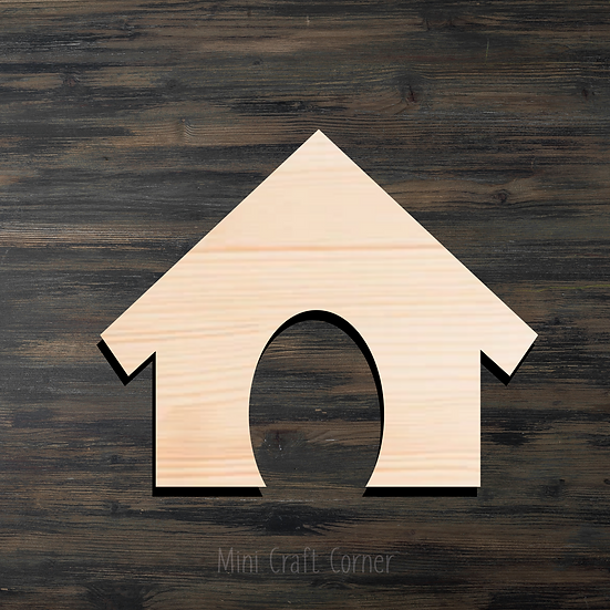 Doghouse Wooden Cutout