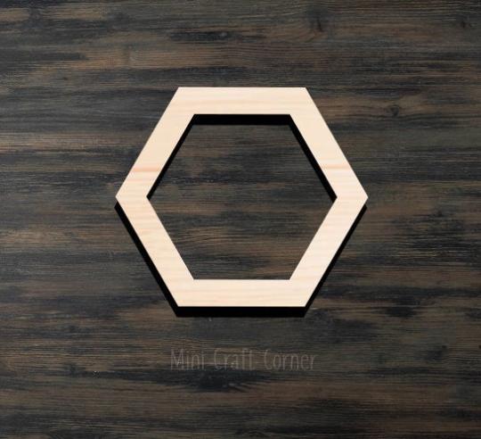 Hexagon Wooden Cutout