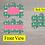 Thumbnail: DIGITAL Green and Pink Floral Dog Tag File