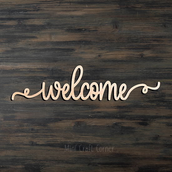 Welcome Wooden Cutout