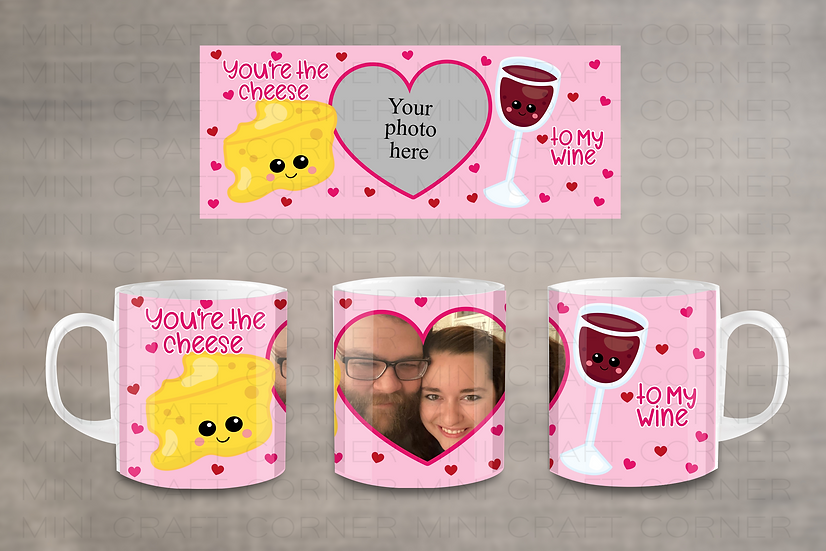 DIGITAL Valentine's Photo Mug Wrap