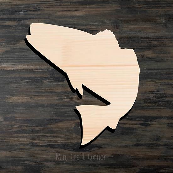 Fish 2 Wooden Cutout