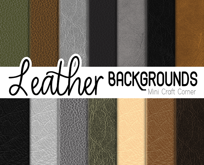 DIGITAL Leather Textures Papers