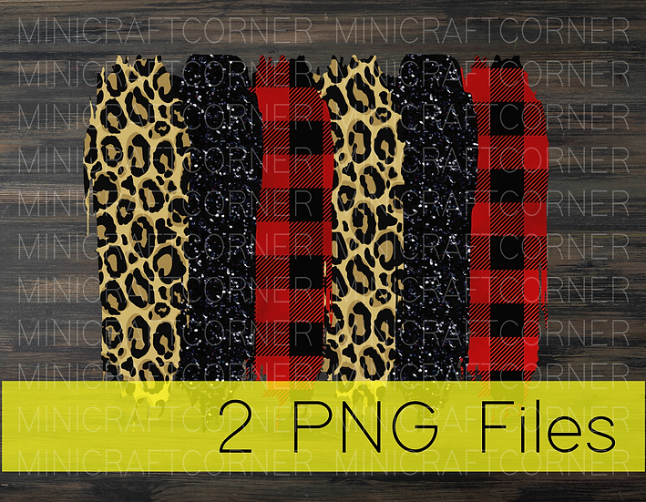 PNG -Cheetah and Plaid Stroke Background 2