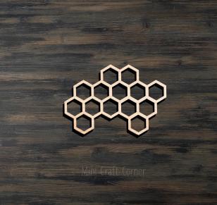Honeycomb Wooden Cutout 2