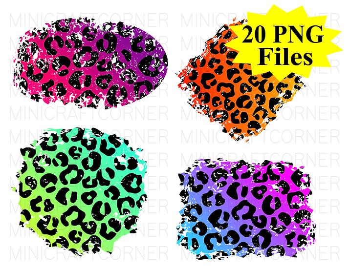DIGITAL Animal Print Distressed Backgrounds