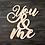 Thumbnail: You & Me Wooden Cutout