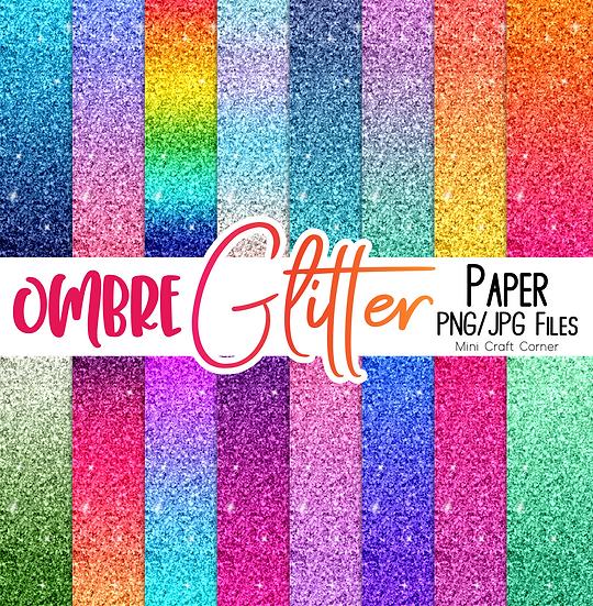 DIGITAL Ombre Glitter Paper