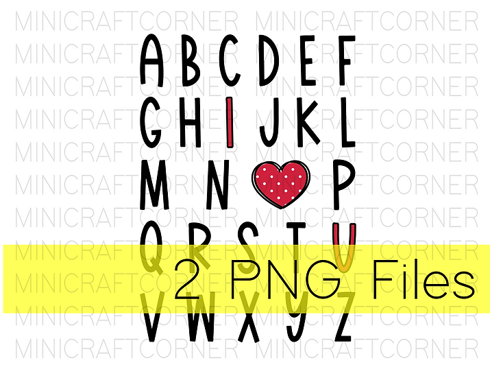 PNG -Valentines ABC Design File