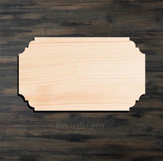 Plaque 4 Wooden Cutout