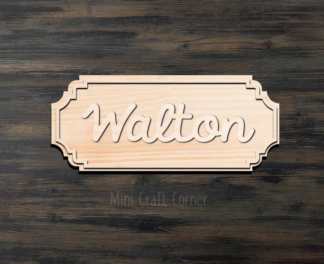 Name Sign Wooden Cutout