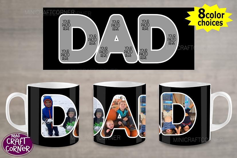 DIGITAL Dad Photo Mug Wrap File