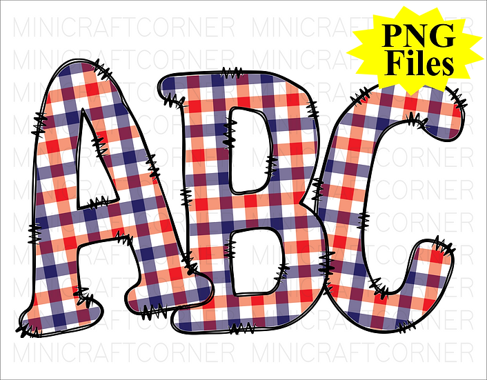 DIGITAL Patriotic Letters PNG Files
