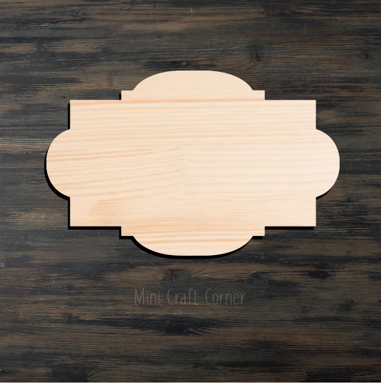 Plaque Wooden Cutout