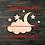 Thumbnail: Cloud Moon & Stars Wooden Cutout