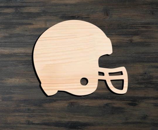 Helmet Wooden Cutout