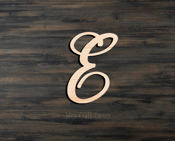 Fancy Letter Wooden Cutout