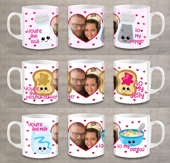 PNG - 3 Valentine's Day Mug Design