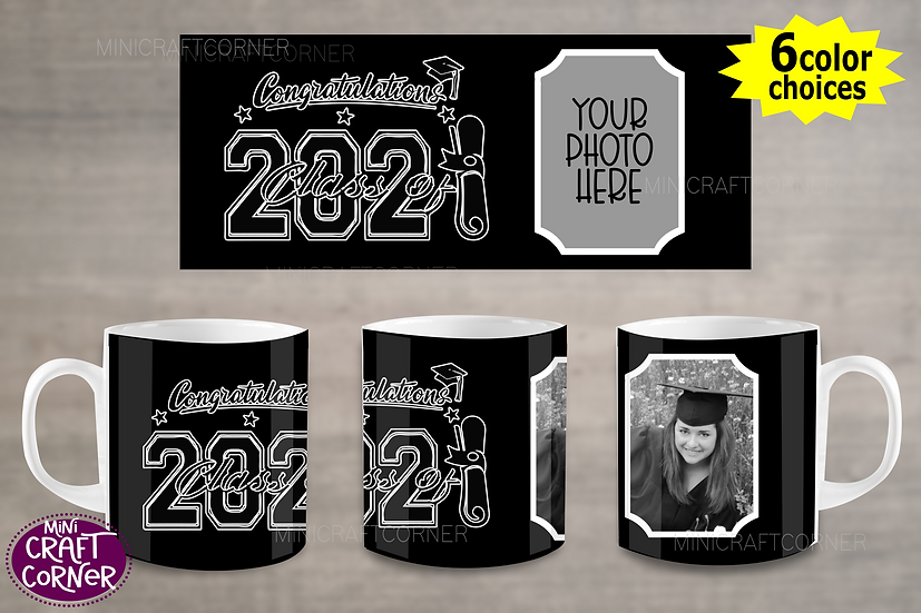 DIGITAL Graduation Mug Wrap File