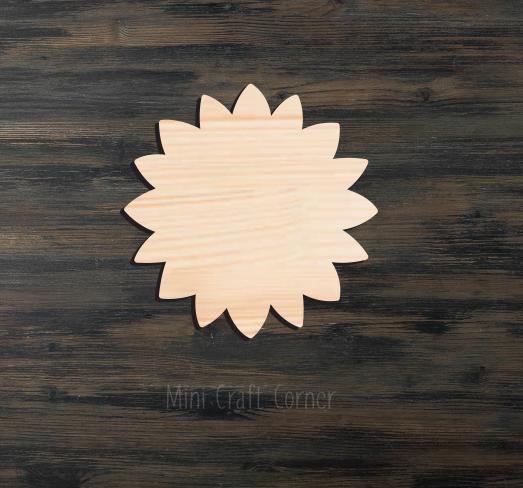 Sunflower Wooden Cutout