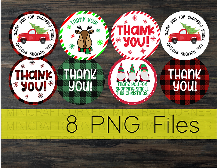 PNG - Christmas Thank You Stickers