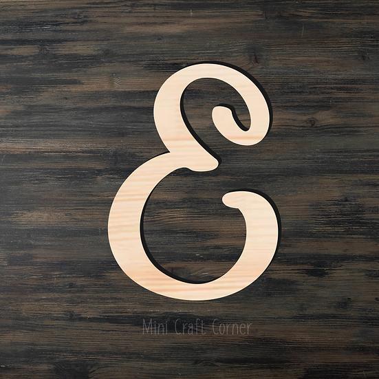 Letter E Wooden Cutout