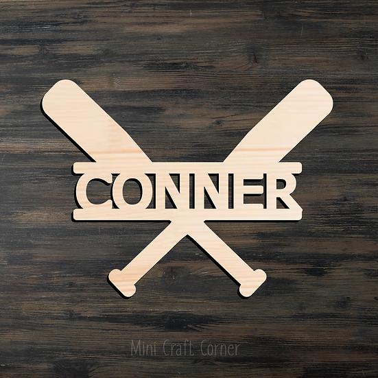 Baseball Name Wooden Cutout