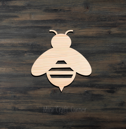 Bumble Bee Wooden Cutout