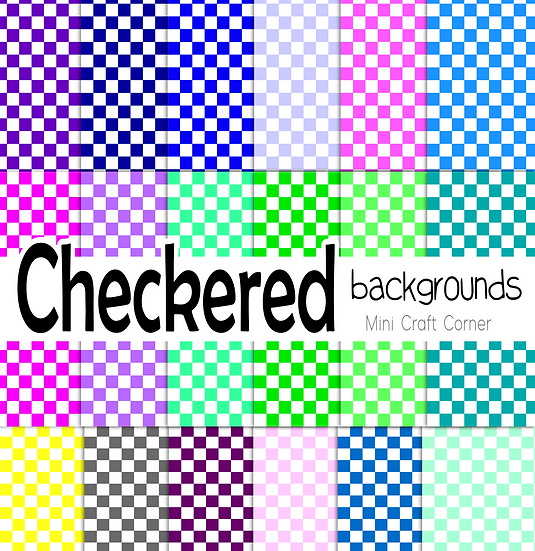 DIGITAL Checkered Papers