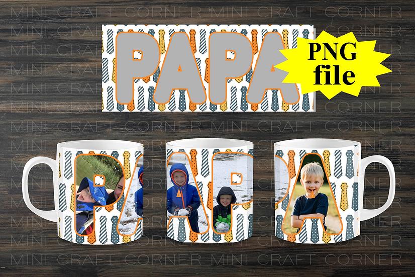 DIGITAL Papa Photo Mug Wrap File