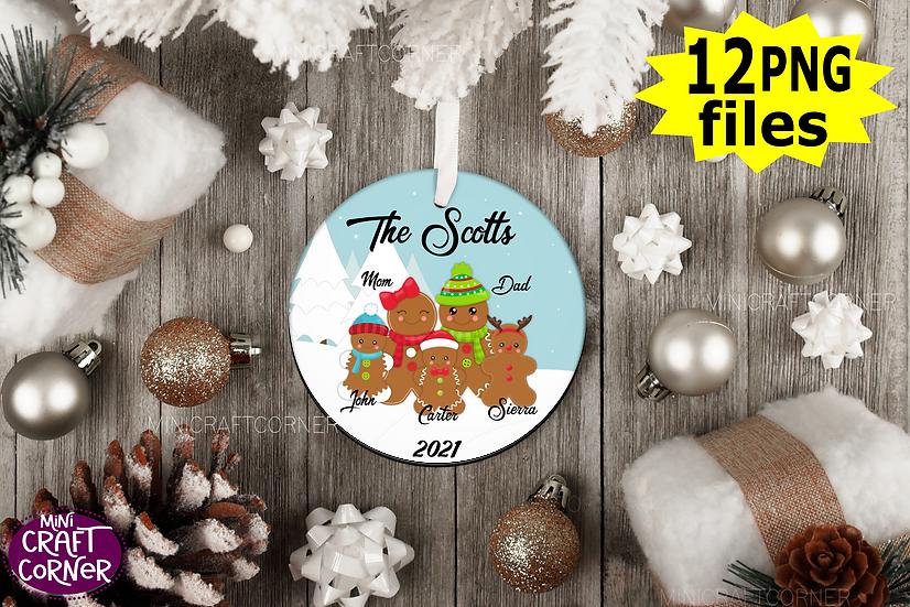 DIGITAL Sublimation Gingerbread Ornament