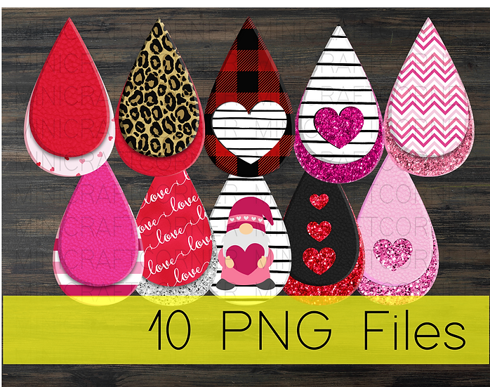 PNG -Valentines Earrings Design File