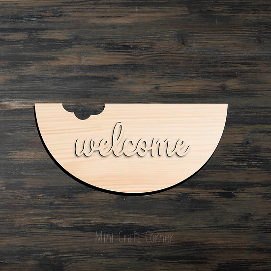 Watermelon Welcome Door Sign Do it Yourself