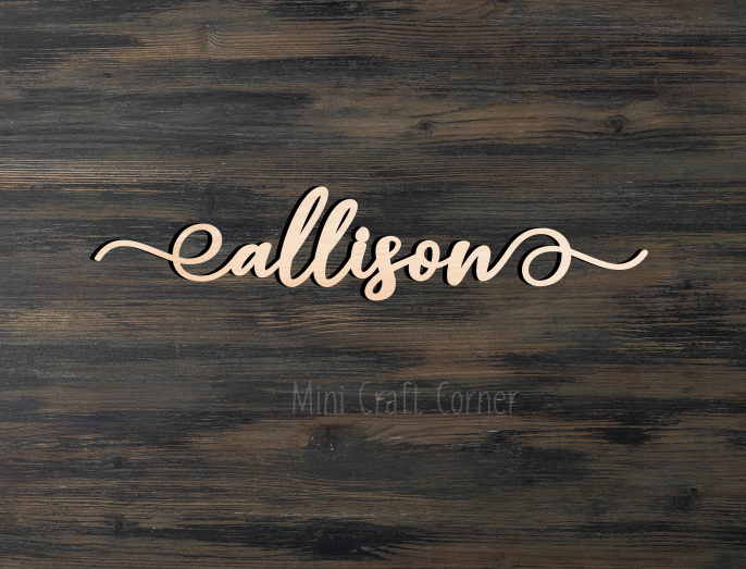 Wooden Name Sign 2