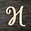 Thumbnail: Letter H Wooden Cutout