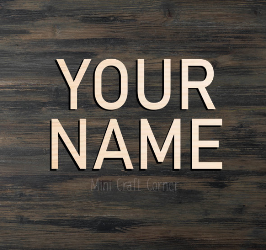 Name Wooden Cutout